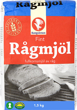 A package of rye flour